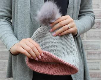 Simple double brim hat - crochet PDF pattern - wearable for men women unisex kids