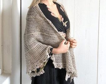 Durable Friendship Shawl - crochet shawl wrap pattern