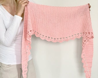 To The Point Shawl - simple crochet pattern for beginners - shawl / wrap / scarf with half circle / round shape