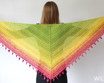 Lovely Luisa Shawl - triangle shawl pdf crochet pattern