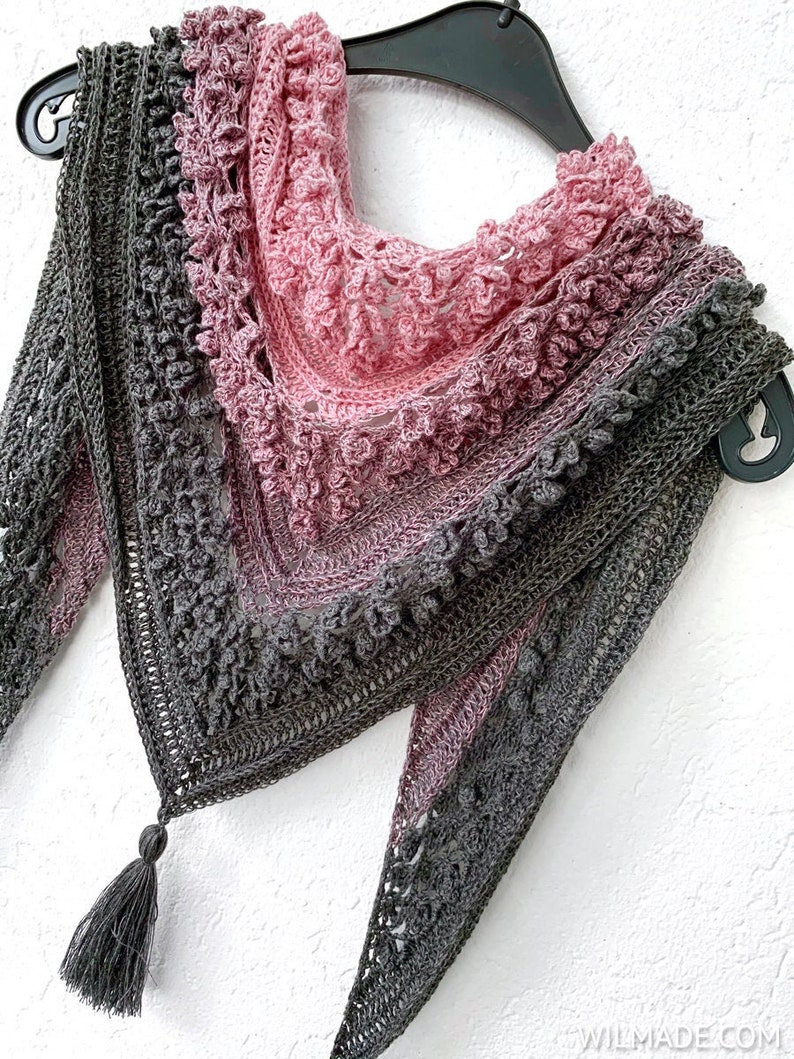 Vela Flower Friend Shawl 1  crochet flower shawl PDF pattern image 0
