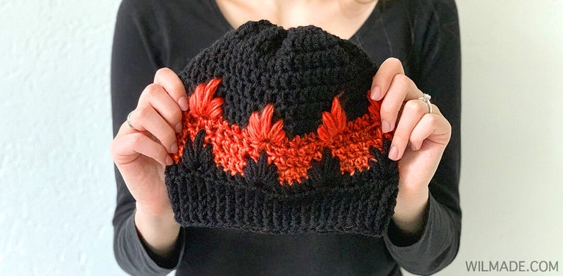 Fire Flame Hat  crochet beanie hat pattern for kids image 0