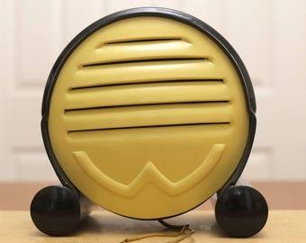 SALE! 1950s Radio Loudspeaker. Truvox Wavox Pastelex Art Deco. Casein Case. Early Communications Equipment. Display Item