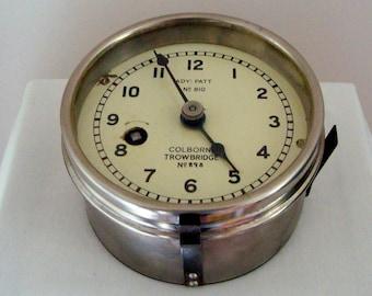 Vintage 1940s WW2 Maritime Plotting Table Clock.  British Admiralty Pattern No. 810. Bakelite and Brass. Royal Navy.