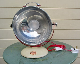 1950s PIFCO Desk Lamp Repurposed From An Infra Red Medical Lamp. Industrial Lighting. Rewired and Working.