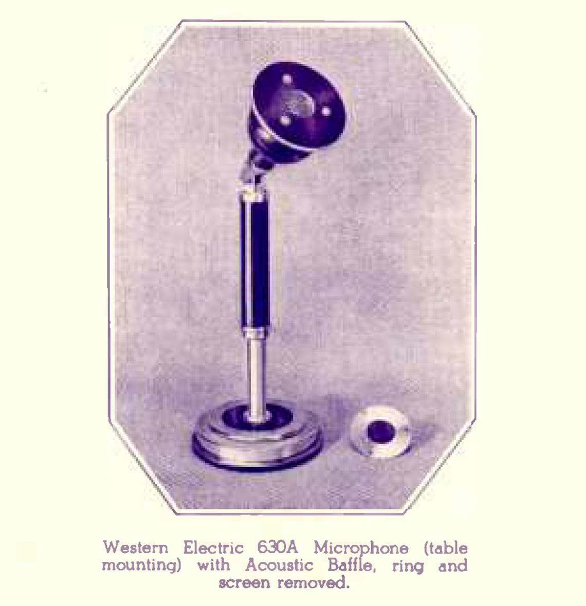 Western Electric 630A Omnidirectional Dynamic Microphone. Apple & Biscuit (Eight Ball/8 ball)