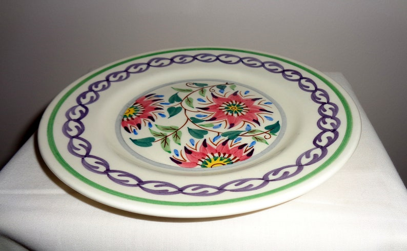 1950s Reproduction 17th Century Pattern by The Bristol Pottery Pountney /& Co Pattern 1684 Side Plates Old Bristol Delft 16.2cm 6.5 Inch