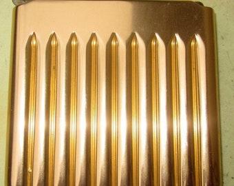 Vintage Boxed Parker Super Wunup Dunhill Cigarette Case. Gold Coloured Metal. Original Box. Registered Design 849191
