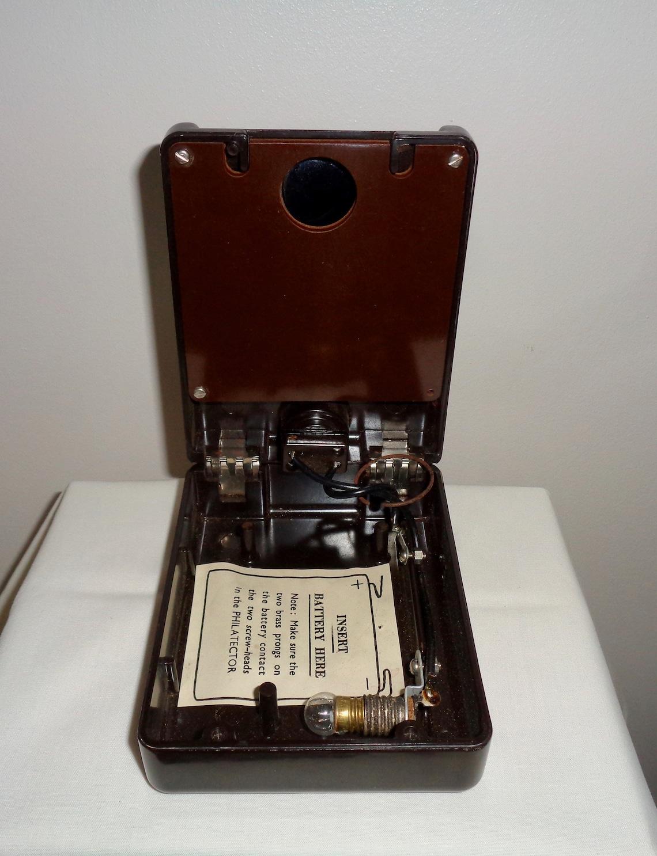 The Philatector Bakelite Electric Stamp Watermark Detector