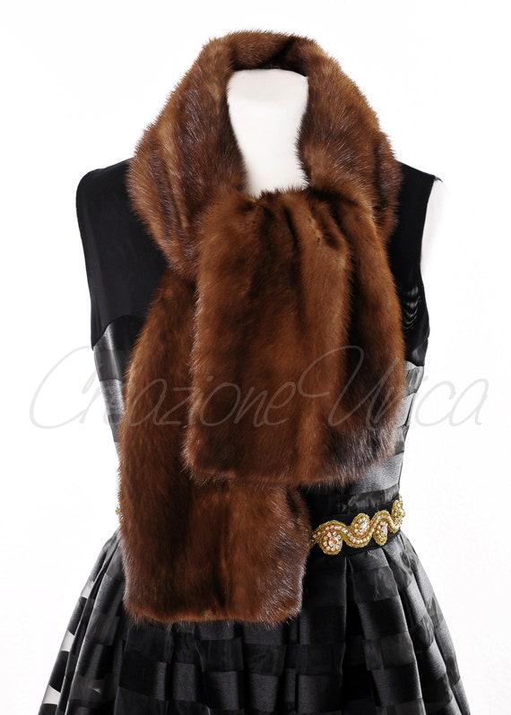 brand new bd0db 813da Unisex Mink fur scarf, fur scarf mink, Pelliccia di visone, Sciarpa,  Écharpe de Vison, Bufanda vison