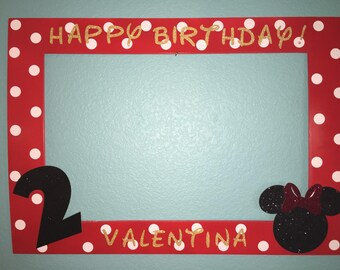 Minnie Mouse Photo Booth Frame.
