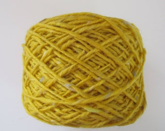 Tweed mohair - yellow