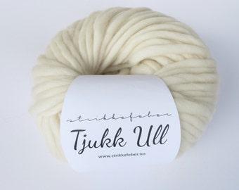 Chunky wool yarn - creme