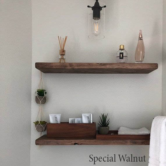 Bon Floating Shelf Floating Shelves Hidden Bracket Farmhouse | Etsy