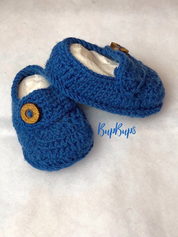 Baby boy blue Loafers in a Gift Box