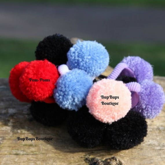 Hair Accessories Baby Pom-Poms Toddler Hair Bobbles Girl  9a72f449b77