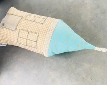 small house-shape cushion