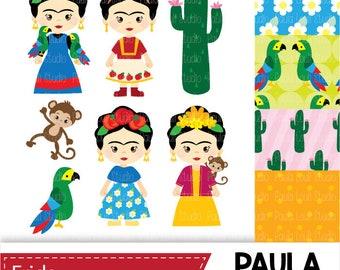 Frida  digital clip art