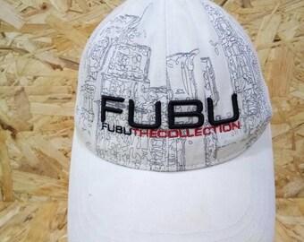7e4ab50083ea1 Vintage 80s 90s Fubu The Collection Cap Baseball Cap Hat White Colour  Snapback Adjustable Cap Hat