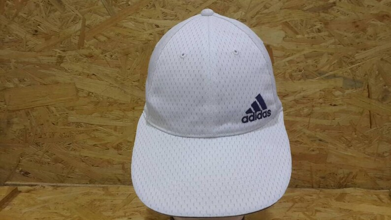 0d70294b Vintage 80s 90s Adidas Three Stripe White Colour Trucker Cap | Etsy