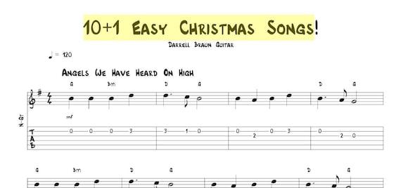 image 0 - Easy Christmas Songs Guitar