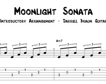 Moonlight Sonata - Easy Guitar Arrangement!