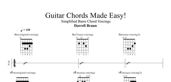 Barre Chords Made Easy Etsy