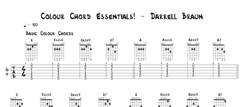 Colour Chords Every Guitarist Should Know image 0