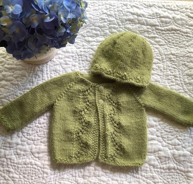 Hand Knit Baby Cardigan