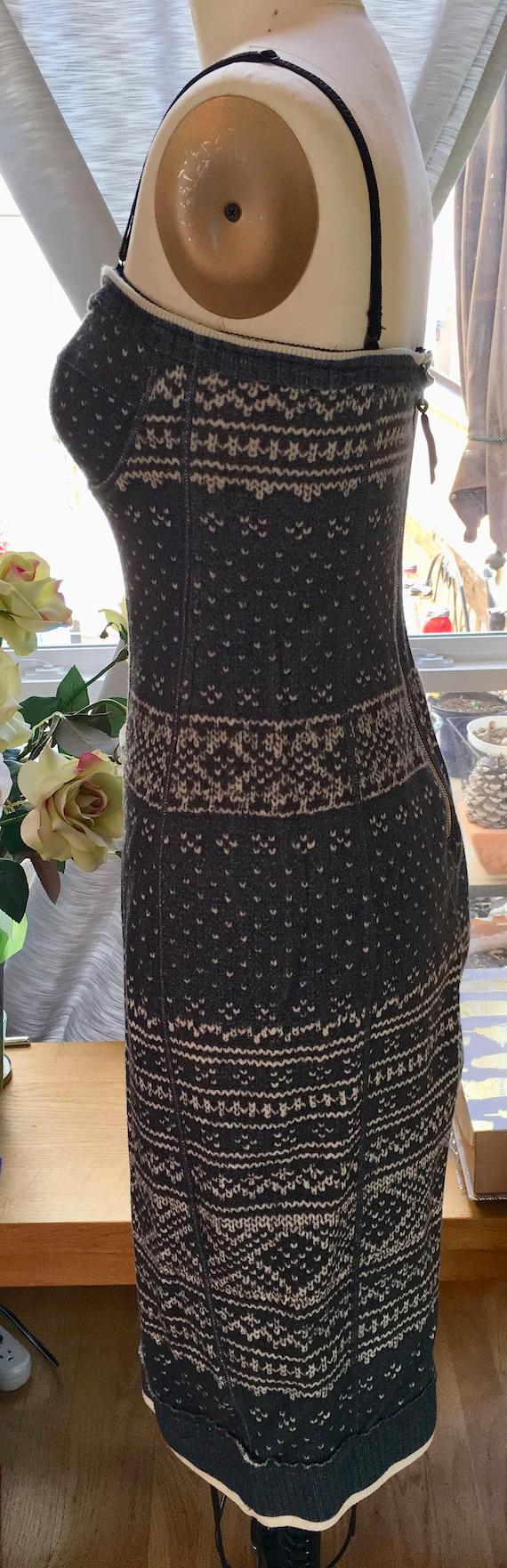 Dolce & Gabbana Bustier Nordic Knit Dress - image 2