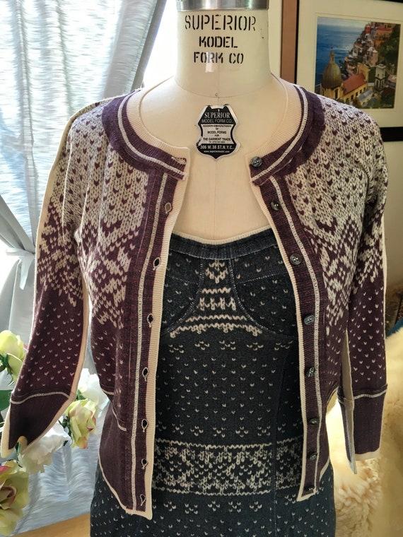 Dolce & Gabbana Bustier Nordic Knit Dress - image 4