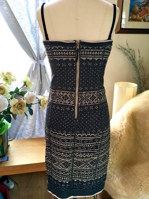 Dolce & Gabbana Bustier Nordic Knit Dress - image 5