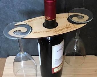Wine Caddy, Wine Carrier, wine butler, wine bottle carrier