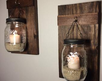hanging mason jars etsy