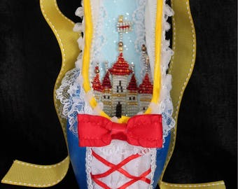 Decorated Pointe Shoe: Snow White, Princess Castle,Ready to ship