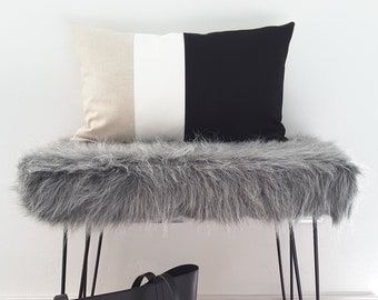 Colorblock cushion cover