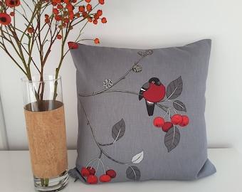 "Cushion cover ""Robin"""
