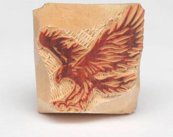 Eagle Stamp Wooden Hand Carved