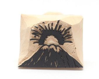 Vocalno stamp, japanese stamp, wooden stamp, hand carved