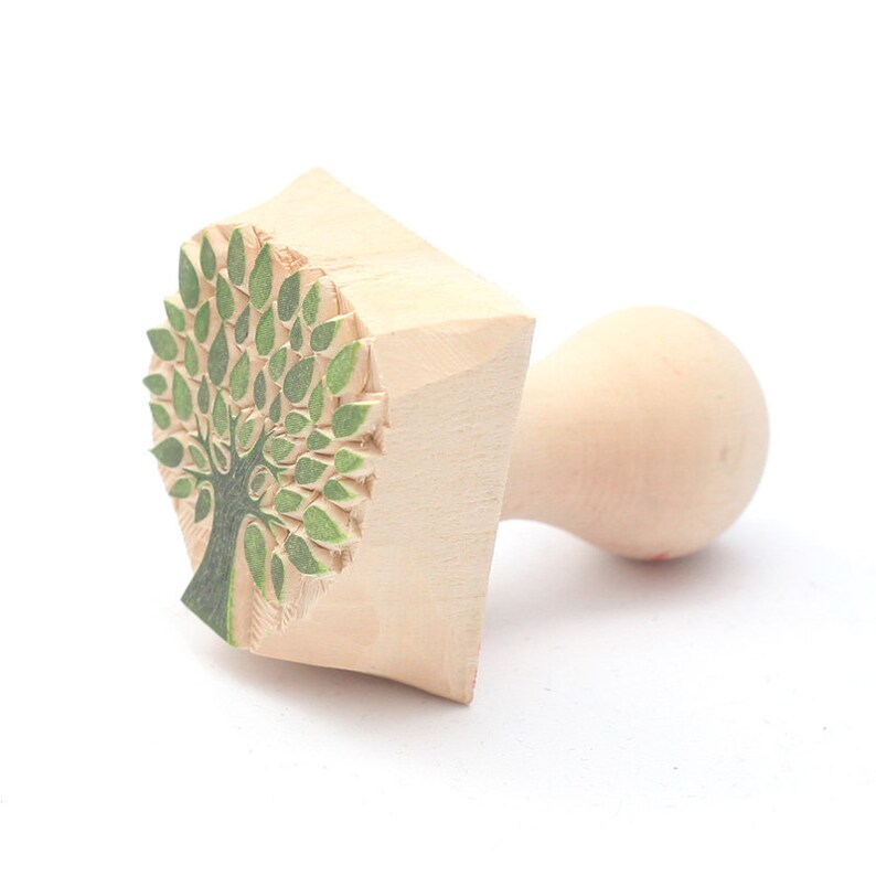 postcard stamp clay stamp hand carved printing block tree stamp tree of life stamp tree of life pottery stamp