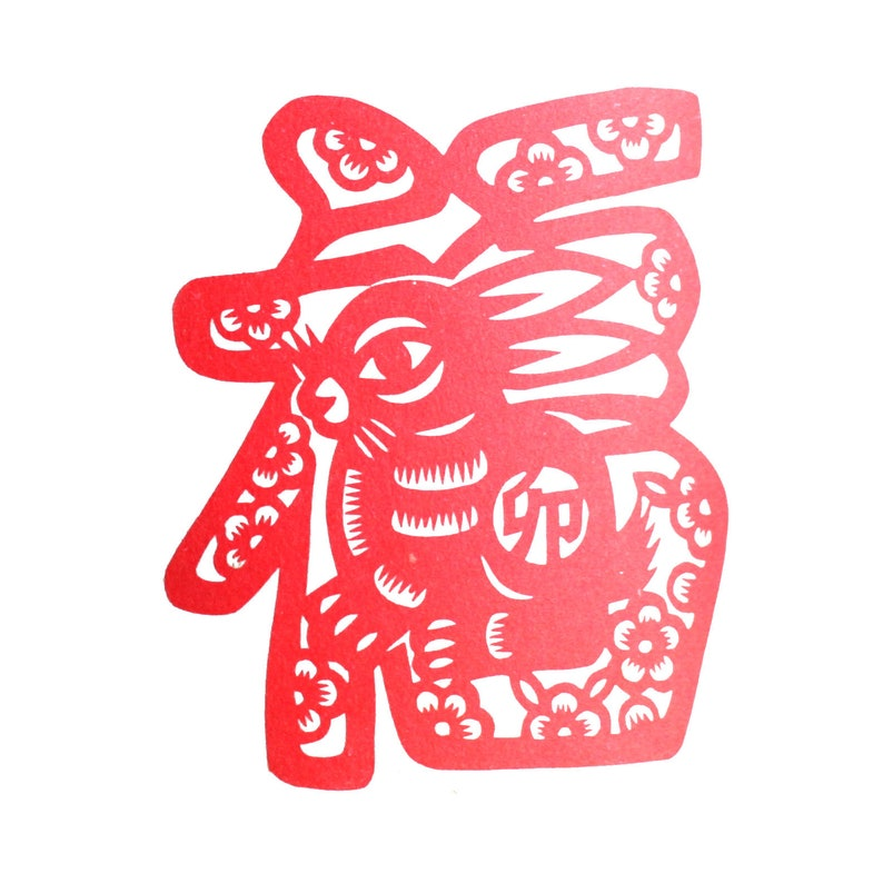 pottery stamp wooden stamp printing block postcard stamp hand carved chinese zodiac stamp Rabbit stamp clay stamp