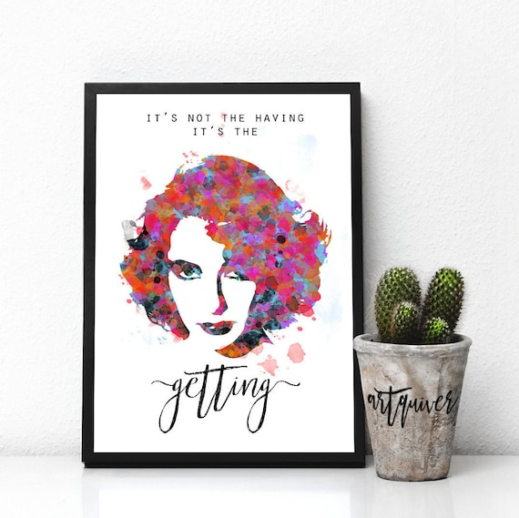 Inspirational posters, Elizabeth Taylor quotes, Elizabeth Taylor poster,  famous quotes about life, motivational, Wall Art, Watercolor, artsy