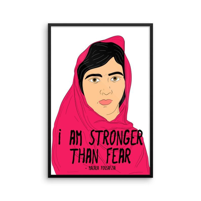 Malala Yousafzai Quotes | I Am Stronger Than Fear Malala Malala Yousafzai Quotes Etsy