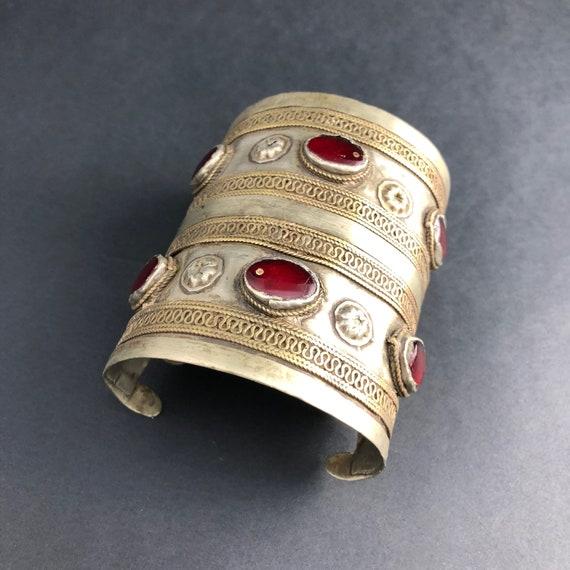 Vintage Style Kuchi Cuff Bracelet - Statement Brac
