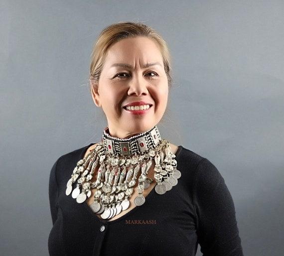 Vintage Style Kuchi Choker Necklace  - Statement N
