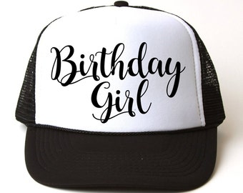 Birthday Girl Hat Trucker Custom Present Party Gift Hats