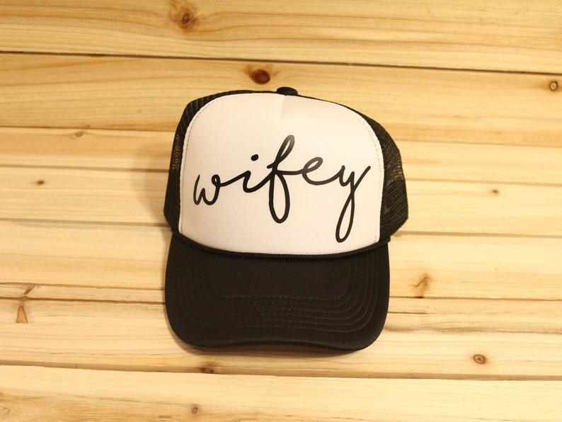 4bd4792d Wifey Trucker Hat Wifey Hat Wife Hat Wife Trucker Hats   Etsy