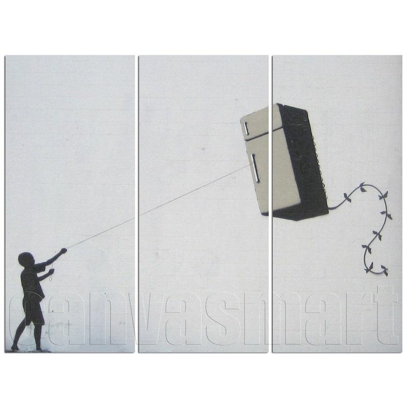 Fridge Kite Banksy Graffiti Mural Painting Stenciling Technique Underground  Culture Canvas Print Giclée Art Décor Free Shipping 40% OFF SALE