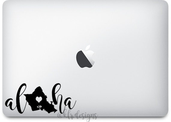 Aloha oahu maui kauai hawaii custom vinyl decal sticker laptop