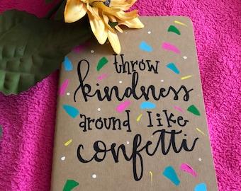 Kindness | Calligraphy | Journal | Personalized | Large Moleskine Journal | Handlettered | Prayer Journal | Notes